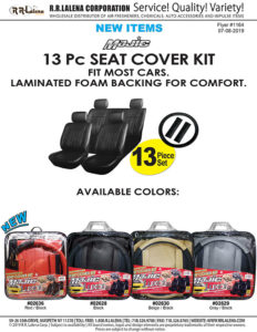 13-piece car seat cover kit