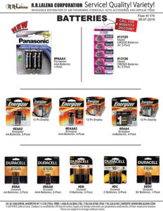 batteries duracell energizer maxell