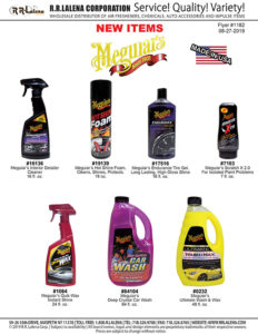 #1182 - Meguiar's  Carwash Chemicals