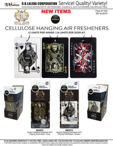#1190 - Aroma King and Queen Playing Cards Air Fresheners