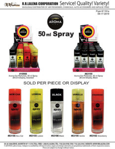 #1191a - Aroma 50ml-Sprays, Assorted