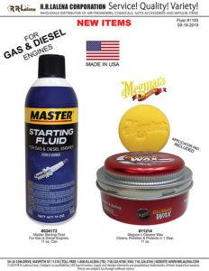 1193 - Starting Fluid for Gas and Diesel Engines, Meguiars Cleaner Wax