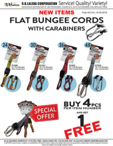 #1210 - Flat Bungee Cords with Carabiners