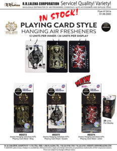#1241a - Aroma Playing Card Style Air Fresheners