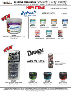 #1242a - Refresh 4.5 oz. Can, Driven 4-Pack Vent Sticks