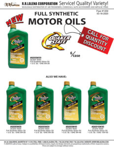 #1259 - Quaker State Full Synthetic Motor Oil, Assorted.