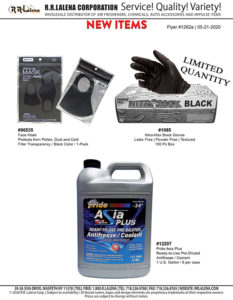 1262a - Face Mask, Gloves, Coolant