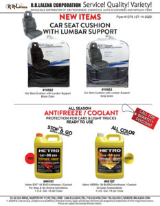 #1278 - Metro Red and Gold Coolants, Seat Cushions