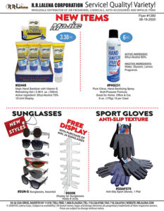 #1290 - Hand Sanitizers, New Styles of Sunglasses, Sport Gloves