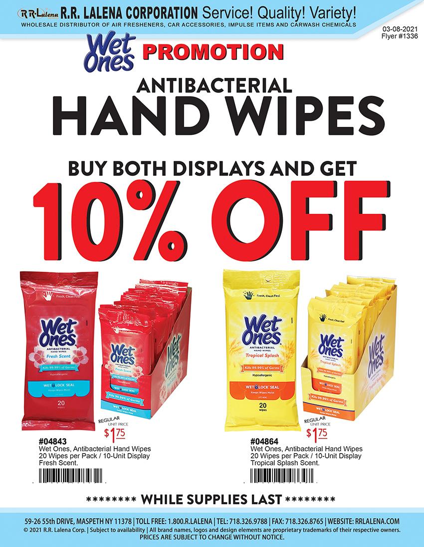 anibacterial wipes