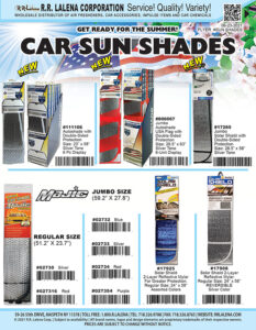 Sun Shades, available in different sizes and colors.