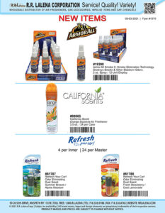 #1375a - Armor All Air Fresheners, California Scents and Refresh Your Car