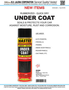 #1376 - Master Under Coat. Car protection against moisture, rust and corrosion.