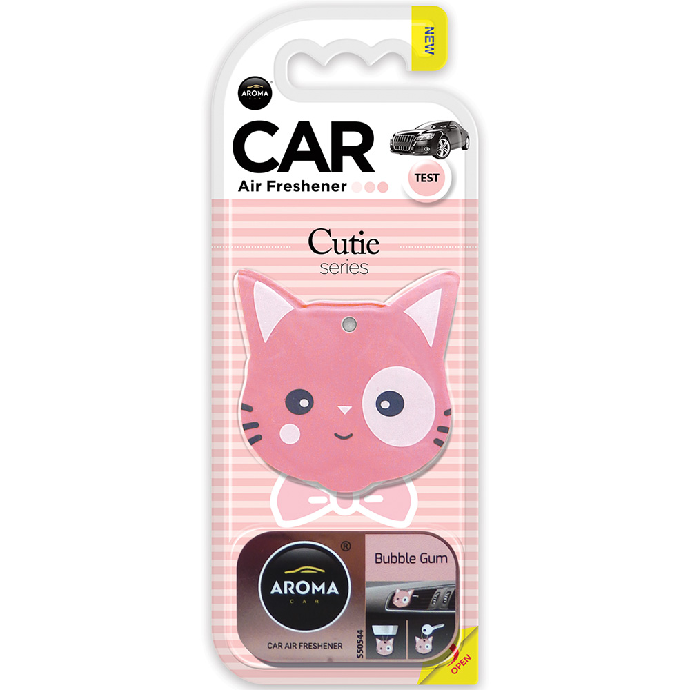 #83192 - Cutie Air Fresheners, 3-In-1. Bubble Gum Scent