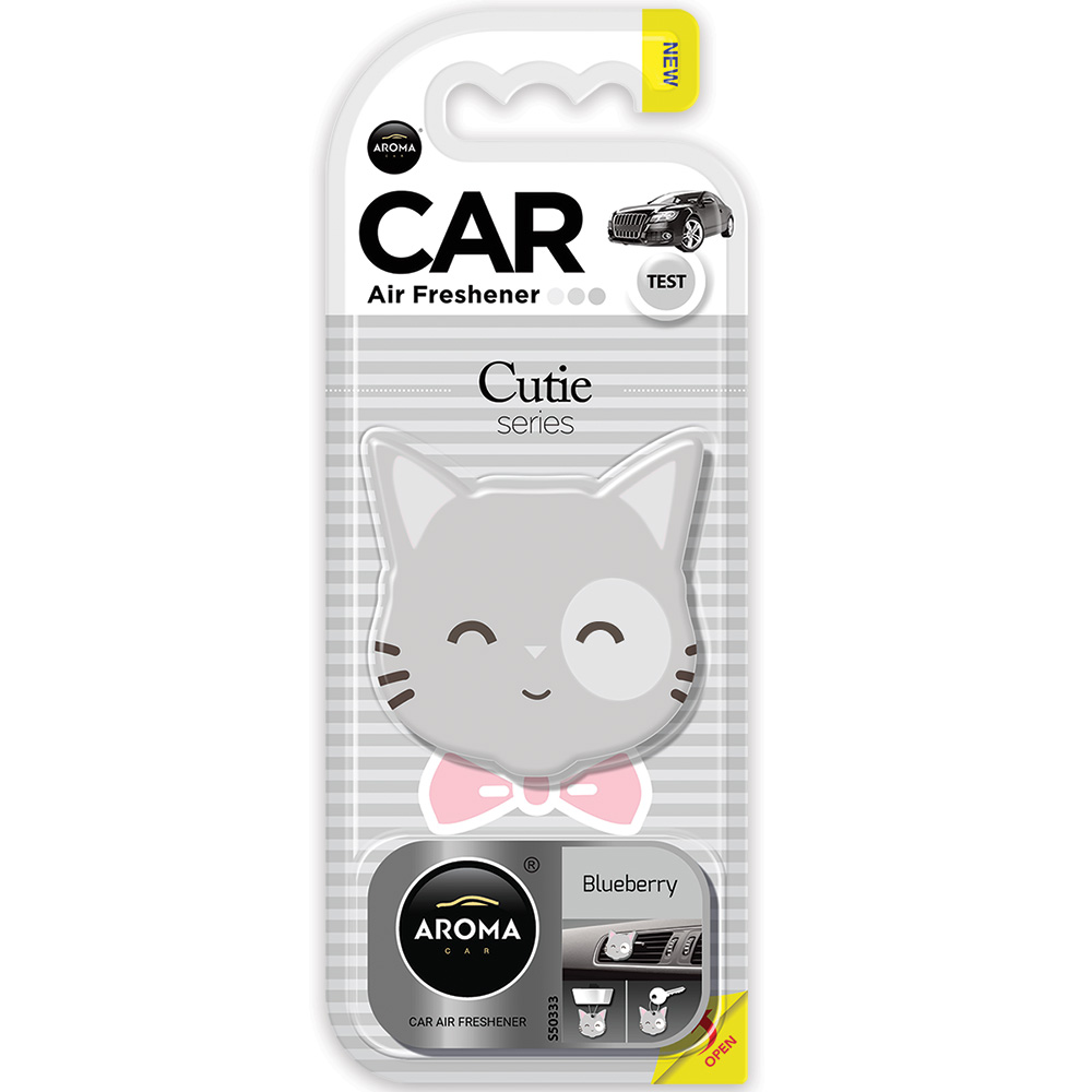 #83193 - Cutie Air Fresheners, 3-In-1. Blueberry Scent