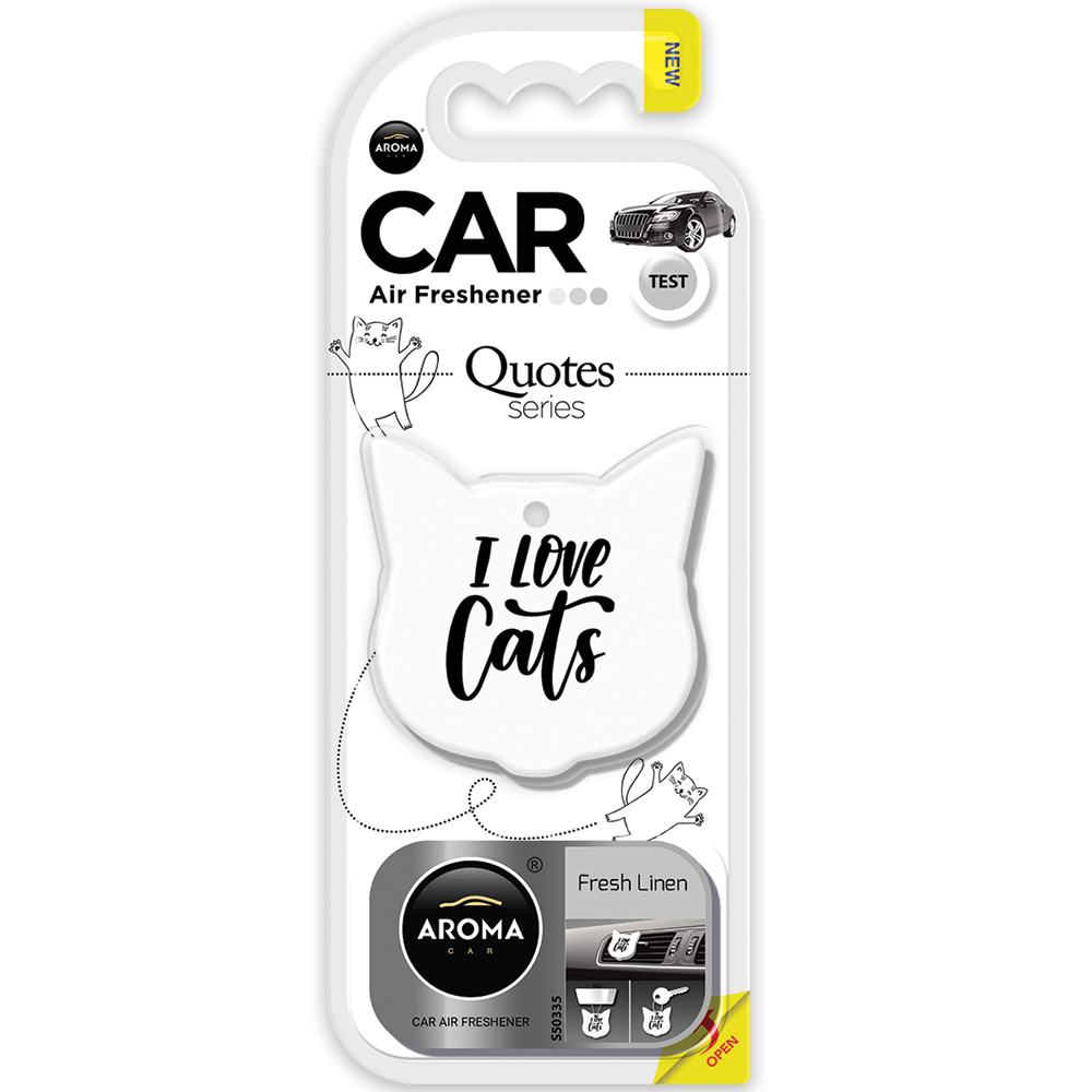 #83195 - Quotes Air Fresheners , 3-In-1. Fresh Linen Scent