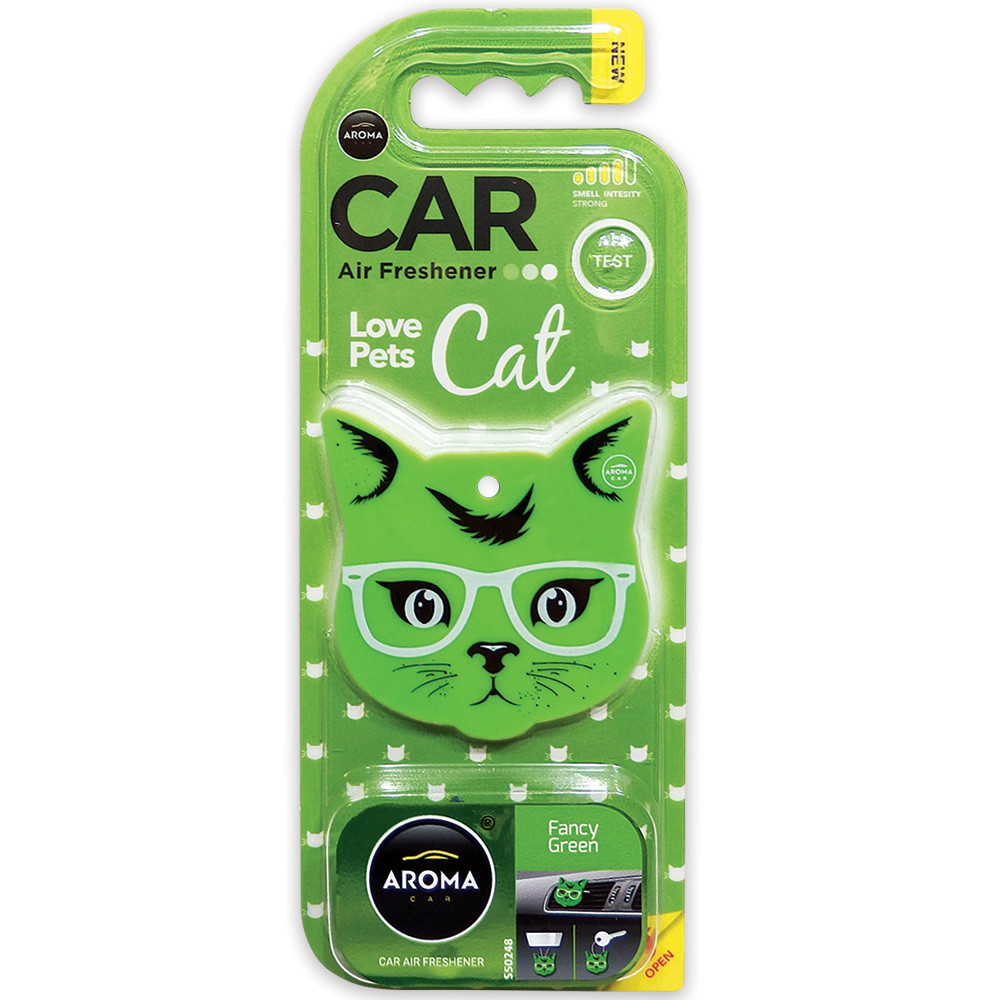 #92570 - Love Pets / Cat Air Freshener, 3-In-1, Fancy Green Scent