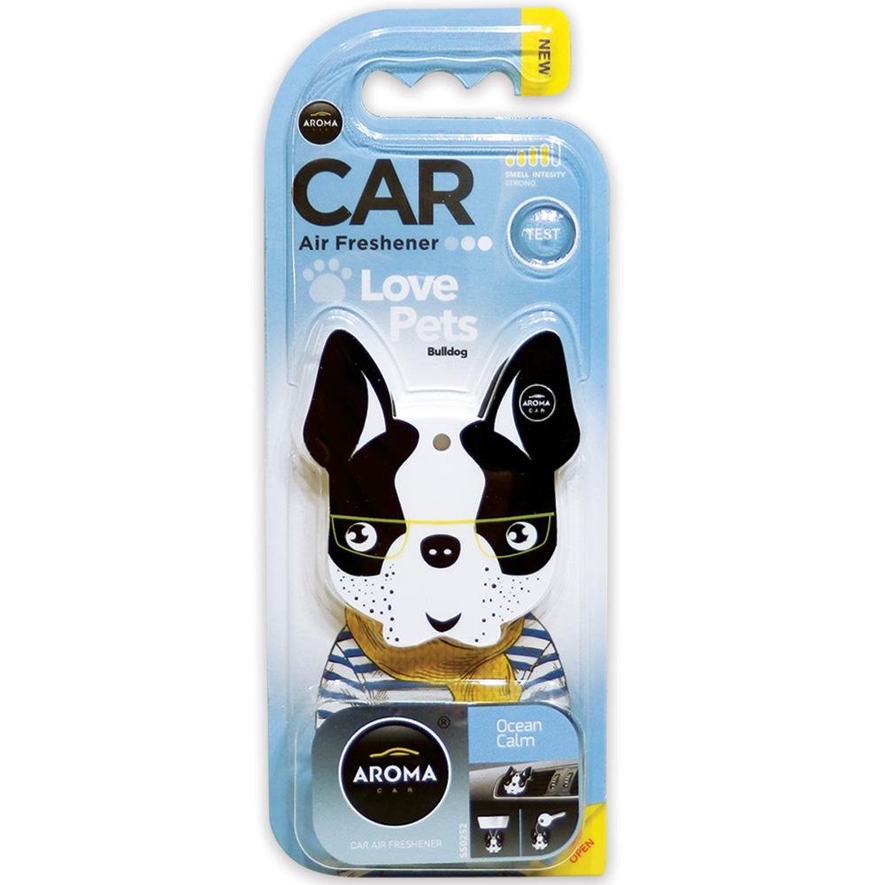 #92565 - Love Pets / Bulldog Air Freshener, 3-In-1, Ocean Calm Scent