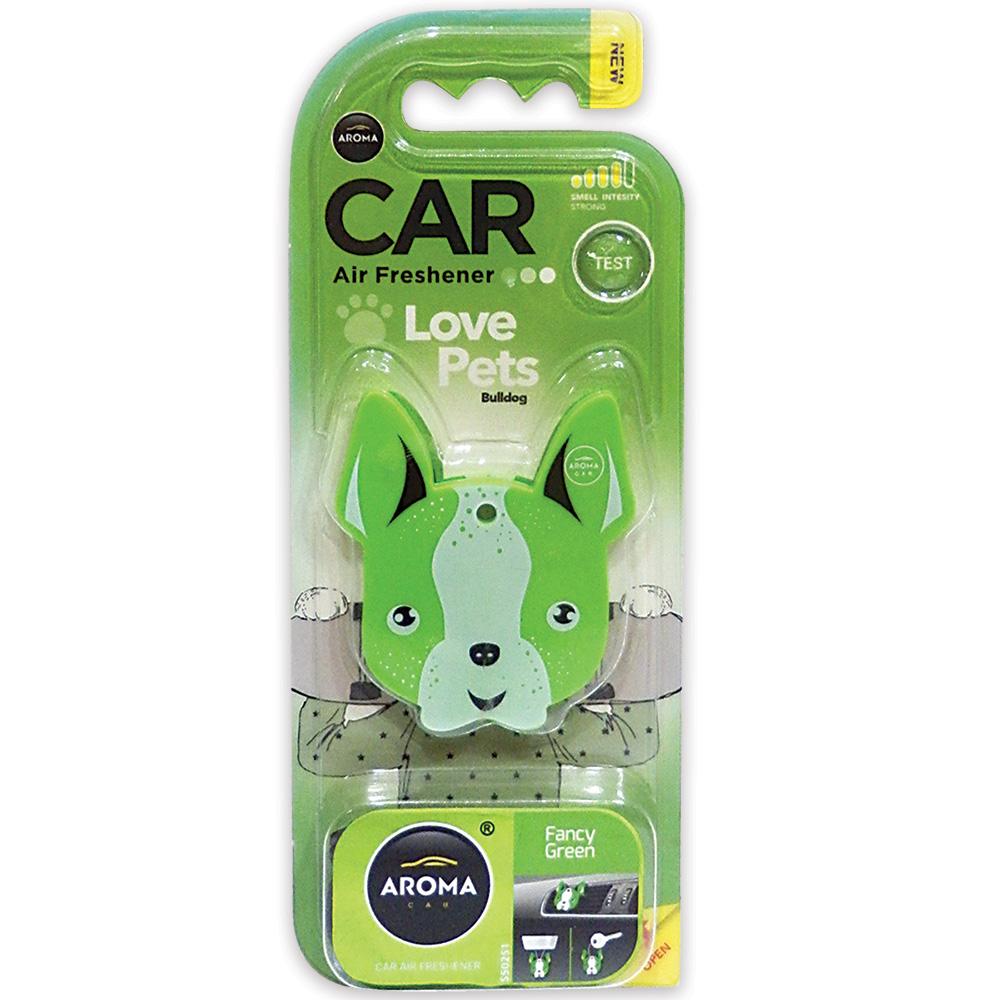 #92566 -  Love Pets / Bulldog Air Freshener, 3-In-1, Fancy Green Scent