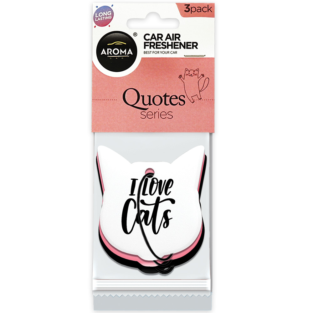 #83841 - 3Pack Quotes Cats Air Fresheners
